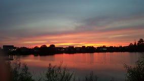 Una puesta del sol pacífica Fotografía de archivo