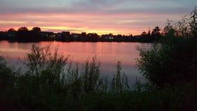Una puesta del sol pacífica Foto de archivo