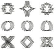 Una raccolta 9 della linea astratta ornamenti Immagine Stock