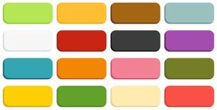 Una raccolta di 16 bottoni isolati illustrazione di stock