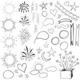 Una raccolta di 47 elementi Illustrazione nera di VETTORE isolata su bianco illustrazione vettoriale