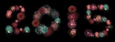 una raccolta di 2015 fuochi d'artificio Immagine Stock