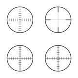 Una raccolta di 4 ha isolato intorno ai crosshairs illustrazione vettoriale