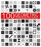 Una raccolta di 100 modelli senza cuciture geometrici di vettore differente royalty illustrazione gratis