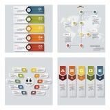 Una raccolta di 4 modelli variopinti di presentazione di progettazione Fondo di vettore Immagine Stock