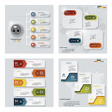 Una raccolta di 4 modelli variopinti di presentazione di progettazione Fondo di vettore Fotografia Stock