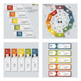 Una raccolta di 4 modelli variopinti di presentazione di progettazione Fondo di vettore Immagini Stock Libere da Diritti