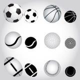 Palle di sport Fotografia Stock Libera da Diritti