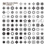 Una raccolta di 96 pallottole decorative Fotografie Stock Libere da Diritti