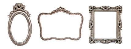 Una raccolta di 3 telai d'argento fotografia stock libera da diritti