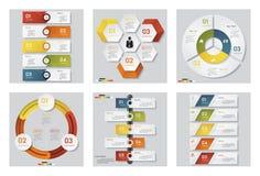 Una raccolta di un modello di 6 progettazioni/disposizione del sito Web o del grafico Fondo di vettore Fotografie Stock