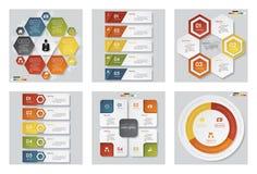 Una raccolta di un modello di 6 progettazioni/disposizione del sito Web o del grafico Fondo di vettore Fotografia Stock Libera da Diritti