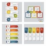 Una raccolta di un modello di 4 progettazioni/disposizione grafica Vettore Fotografia Stock