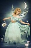 Una ragazza è un fairy fotografia stock