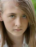Una ragazza arrabbiata Immagini Stock