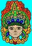 Una ragazza celebratoria con i cervelli royalty illustrazione gratis