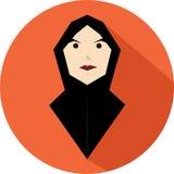 Una ragazza con il velo nero Immagine Stock Libera da Diritti