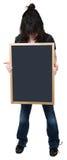 Una ragazza di sedici anni con la lavagna in bianco Fotografia Stock Libera da Diritti