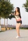 Una ragazza di sport Fotografia Stock