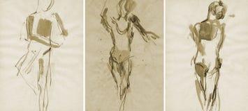 Una ragazza di tre balletti, dissipante Immagini Stock Libere da Diritti