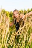 Una ragazza e una natura Fotografia Stock