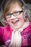 Una ragazza felice Immagini Stock Libere da Diritti