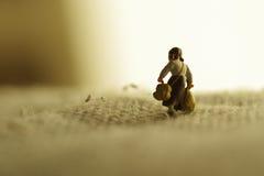 Una ragazza miniatura Fotografia Stock Libera da Diritti