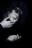 Una ragazza nel dolore Fotografia Stock Libera da Diritti