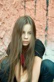 Una ragazza nella disperazione Fotografia Stock Libera da Diritti