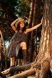 Una ragazza nello stile del paese. Immagini Stock Libere da Diritti