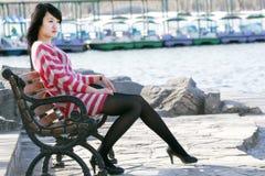 Una ragazza orientale Fotografie Stock Libere da Diritti