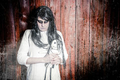 Una ragazza spaventosa del fantasma Fotografie Stock