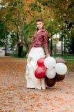 Una ragazza in un Kurta di cuoio Fotografie Stock