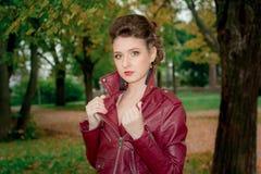 Una ragazza in un Kurta di cuoio Fotografia Stock
