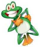 Una rana sorridente Immagine Stock