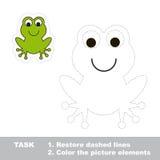 Una rana verde de la historieta que se remontará Foto de archivo libre de regalías