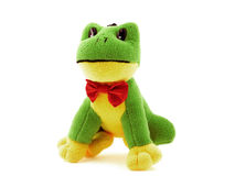 Una rana verde del giocattolo Fotografia Stock Libera da Diritti