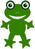 Una rana verde feliz Fotografía de archivo libre de regalías