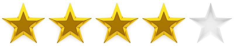 Una rassegna o una valutazione di zero - cinque stelle Immagine Stock Libera da Diritti