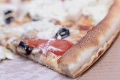 una rebanada de pizza Imagen de archivo libre de regalías