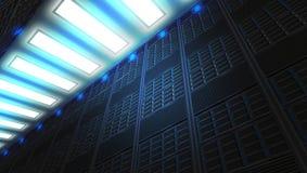 Una red en Internet moderna y tecnología de las telecomunicaciones de Internet stock de ilustración
