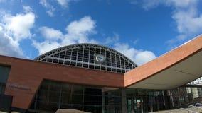 Una registrazione di lasso di tempo del complesso centrale di convenzione di Manchester video d archivio