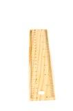Una regla de madera de 20 cm, aislada. Muévala de un tirón ove Imagen de archivo