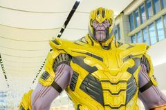 Una regolazione delle action figure di Thanos Portrait dai vendicatori si meraviglia comico immagini stock libere da diritti