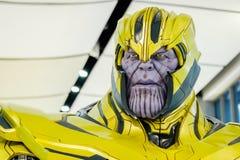 Una regolazione delle action figure di Thanos Portrait dai vendicatori si meraviglia comico immagine stock