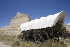 Una replica del vagone coperto Fotografie Stock Libere da Diritti