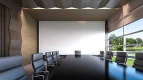 Una representación vacía sala/3D de reunión Fotografía de archivo