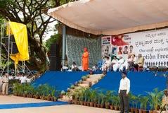 Una reunión anti de la corrupción en la India Foto de archivo