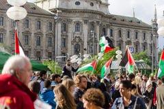 Una reunión contra la guerra en Gaza fotos de archivo