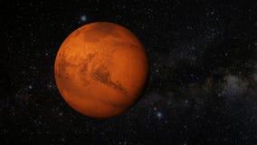 Una revolución animada del planeta Marte stock de ilustración